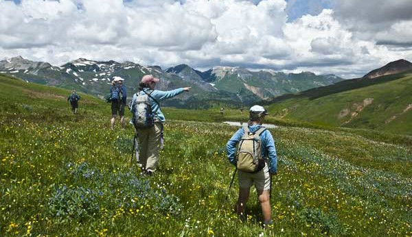 Hiking Ouray-Silverton-Lake City Colorado-US Basin
