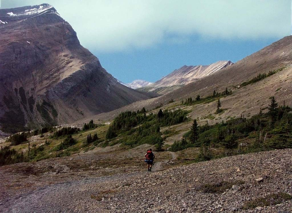 Brazeau Lake Loop-Views towards Brazeau Valley