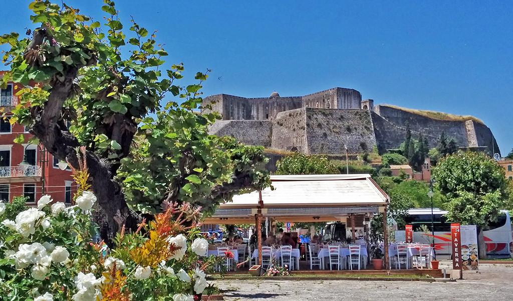 Bicycling Corfu- Corfu Town-New Fortress