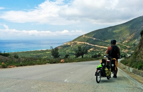 Bicycling Albania-Lukov to Vlore