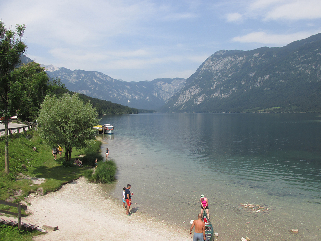 Bicycling Slovenia-Lake Bohinj