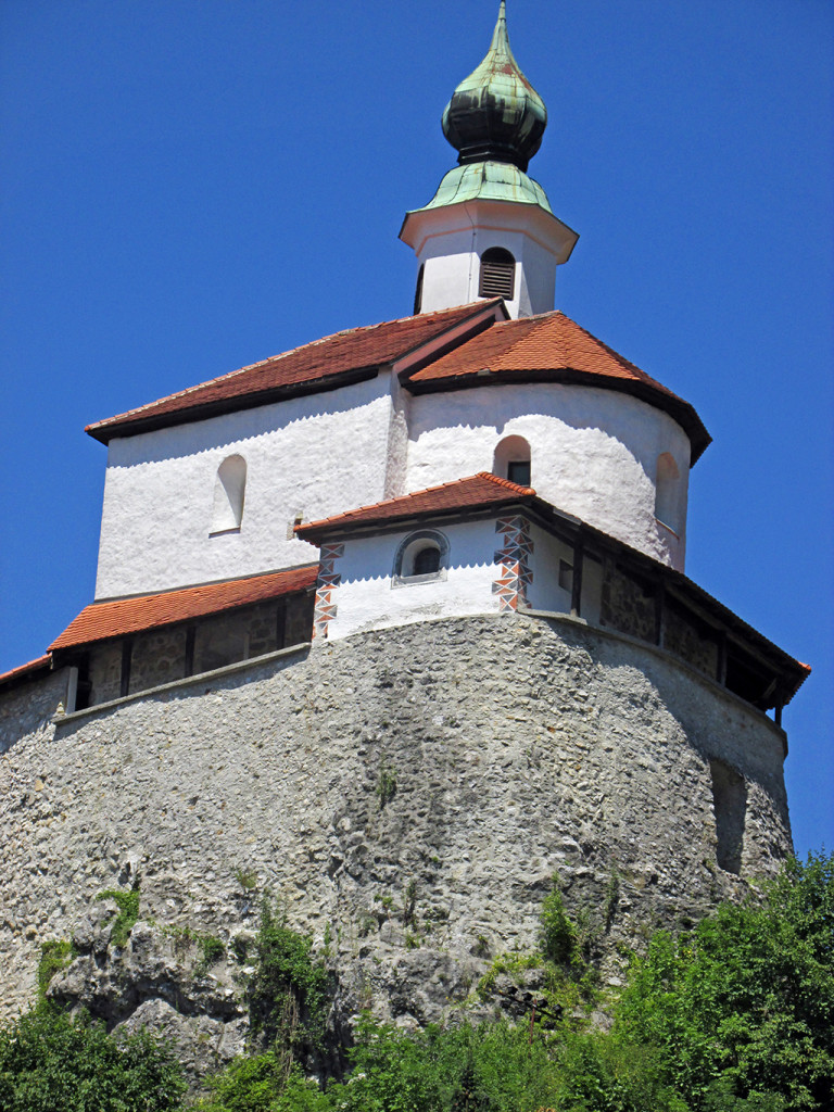Bicycling Slovenia-Kamnik Castle